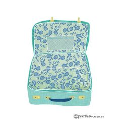 Pretty little vintage suitcase illustrated for @projectadelaide