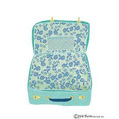 Pretty little vintage suitcase illustrated for @projectadelaide #illustration #messymisskate #suitcase #floralfabric #surfacepatterndesign #vintagesuitcase #vintage #projectadelaide | by Kate Mason @ messy Miss Kate
