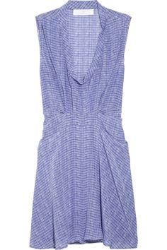 Faded plaid silk dress by Thakoon Addition