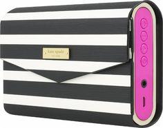 kate spade new york - Portable Bluetooth Speaker - Pink/Fairmont Black/White - Left Zoom