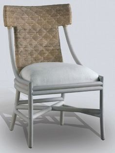 Rattan T Back Chair