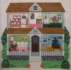 Magic Needle # MN567 Doll House 2 13 mesh 18 x 18 Needlepoint Canvas - See more at: http://www.annieandco.com/products/magic-needle-mn567#sthash.k83oZ2Ko.dpuf