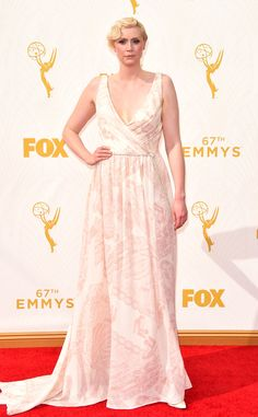 Gwendoline Christie from 2015 Emmys: Red Carpet Arrivals  In Giles Deacon