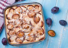 Sült vanília krém szilvával Clafoutis Vegan, Sheet Pan, Mashed Potatoes, Vegan Recipes, Vegan Food, Cake Decorating, French Toast, Low Carb, Tasty