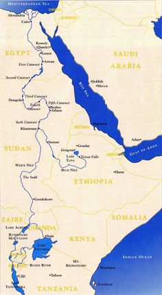 Nile River Map Nile River Largest River In Africa And The