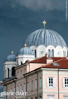 Trieste - Le cupole della Chiesa serbo-ortodossa di San Spiridione