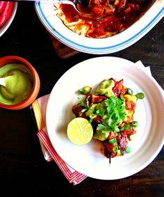 Mexican Enchiladas with coriander & lime cream (vegan   grain, nut, gluten & sugar-free) - Optifast Intensive suitable - Opti Cook