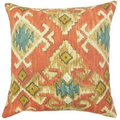 """The Pillow Collection Nouevel Cotton Throw Pillow Color: Red, Size: 20"""" x 20"""""""
