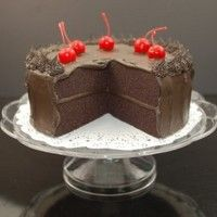 Show product details for Cake - Chocolate Fudge - Slice Out On A Pedestal