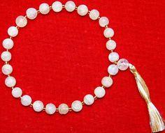 Rainbow Moonstone wrist mala of 27 1 beads