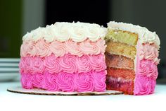 let them eat cake      Ombre Cake    How rad is this ombre cake made by Frosted in Madison, WI?