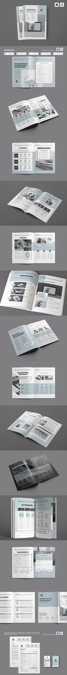 Clean & Professional Proposal Template With Include A4 & US letter Size - InDesign INDD