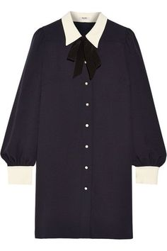 MIU MIU Sable georgette shirt dress. #miumiu #cloth #dresses