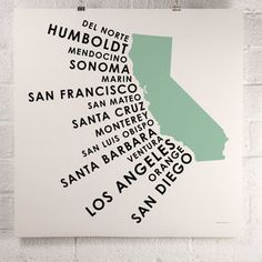California Counties Print Green now featured on Fab.