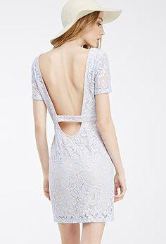 Floral Lace Scoop-Back Dress | FOREVER21 - 2000100130