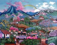 San Fernando arriving home – Arte Primitivista