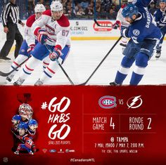 Match#4 MTL(0-3) vs TBY(3-0) Montreal Canadiens, May 7th, Baseball Cards, Sports, Hs Sports, Sport