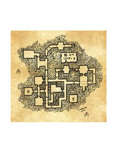 map #01, is a 3 level dungeon, level 2 Game master version, rpg dungeon, keep map, by unknown user