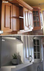 Komoda Pomysłów: Jak pomalować meble kuchenne? Interior Design Kitchen, Your Space, Bathroom Medicine Cabinet, Kitchen Cabinets, Relax, Shelves, House, Home Decor, Stencils