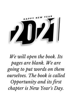 New year 2021 opportunity quotes for friends to motivate through a rough journey. Ignore worries, Avoid Tensions, Believe in your intentions, Have no fears and Love your Dears, throughout the year. #newyearopportunityquotes2021 #motivationalnewyearquotes2021 #inspirationalnewyearquotes2021 Happy New Year 2021 HAPPY NEW YEAR 2021 | IN.PINTEREST.COM WALLPAPER #EDUCRATSWEB