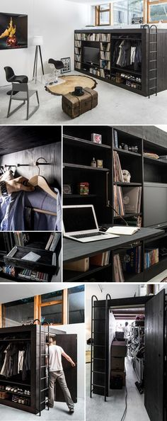 Space-Saving Furniture Living Cube space-saving furniture design - multifunctional furniture for small living spaces, minimalist living space, minimalism, simple living