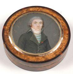 """Nicolas Jacques (1780-1844) """"Portrait of a former émigré"""", box with miniature #PortraitMiniatures"""