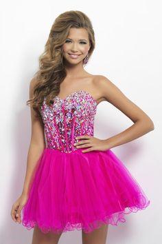 2013 Homecoming Dresses Fuchsia Short/Mini Sweetheart A Line Tulle