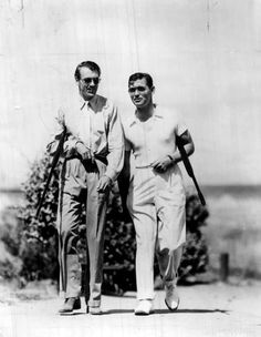 Gary Cooper and Clark Gable