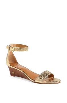 "Fine with this height of heel, maximum (1 1/2"").  Tory Burch 'Savannah' Wedge Sandal available at #Nordstrom"