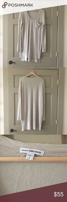 JP tunic/dress Slightly sheer, can be worn as a tunic or dress. Size 2=medium but could also fit a large. Small snags, honestly from my dry hands when cleaning or hanging it. Only worn twice. James Perse Tops Tunics