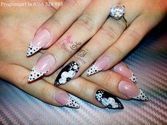 unghii stiletto cu french permanent  http://www.larybeautycenter.ro/servicii/unghii-cu-gel-sau-acryl