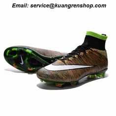 Deliver Nike Mercurial Superfly 4 FG flyknit rainbow brown black white  Soccer Cleats 7a26568cc
