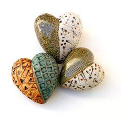 Olive Green Ceramic Heart Affordable Art von BlueMagpieDesign, $33.95