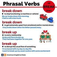 Break phrasal verbs