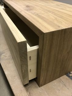 Kiaat drawer box with Birch Ply drawer and exposed Dominos