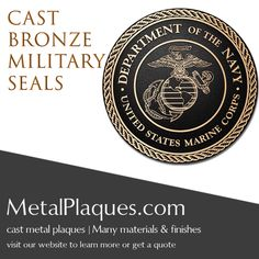 Military & Government Plaques | Cast Bronze | Weather Resistant Plaques