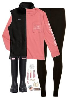 """""""Vineyard Vines"""" by kaley-ii ❤ liked on Polyvore featuring Patagonia, Dorothy Perkins, Hunter, Clarins, Bobbi Brown Cosmetics, Lipsy, Kendra Scott and Urban Decay"""