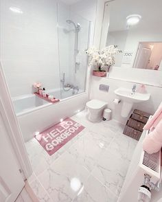 Bathroom Inspiration, Home Decor Inspiration, First Apartment Decorating, Bathroom Design Luxury, Home Room Design, Dream Bathrooms, My New Room, Room Decor, Decoration