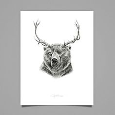 Saved by Cecilia Hedin (ceciliahedin). Discover more of the best Illustration, Animals, Reinbear, Cecilia, and Hedin inspiration on Designspiration Creative Illustration, Illustration Art, Happy Design, Illustrations And Posters, Art History, Moose Art, Wall Art, Drawings, Artwork