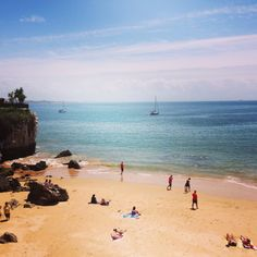 Beautiful beaches of Cascais, Portugal