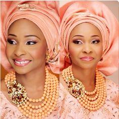 BellaNaija Bride Mayowa Photography by Emmanuel for Spotlight Spectra Make up by Banke Meshida-Lawal Nigerian Wedding Makeup lace gele beads naija bride yoruba