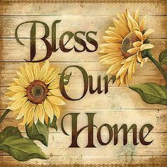 Retro Bless Home Metal Sign 18 x 18 Inches is part of Metal home Sign - Retro Bless Home Tin Sign Unique Metal Wall Art Wall Decor Gift Idea Made in USA! Your Retro Store Since 2002 Jackandfriends com Sunflower Home Decor, Sunflower Kitchen, Sunflower Art, Sunflower Design, Sunflower Crafts, Sunflower Patch, Sunflower Images, Sunflower Wreaths, Design Seeds