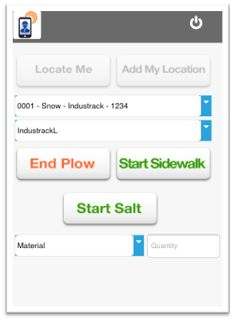 IndusTrack complete fleet management solution: Specialized Mobile App for Snow Plow Business