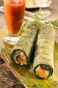 Roulé d'épinards au saumon fumé facon sushi decodesign / Décoration