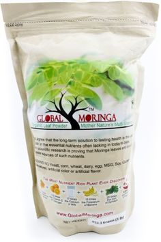 Moringa Powder 1.0lb/16.6oz. (453.59 Grams) 100% Pure Organic Grade a Powder Ground From a Natural Oleifera Drumstick Tree. Our Premium Leaf Is Grown in Ghana and Harvested Fresh. Global Moringa http://www.amazon.com/dp/B008K6EFDO/ref=cm_sw_r_pi_dp_s9Xqub16YPFYV
