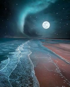 Full Moon in the Beach - DIY Diamond Painting – Colorelaxation Beautiful Sky, Beautiful Landscapes, Beautiful Moon Pictures, Full Moon Pictures, Beautiful Family, Beautiful Places, Image Nature, Shoot The Moon, Moon Photography