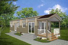 W1907 Modern Rustic 700 sqft tiny small house plan very