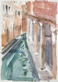 Original Landscape Painting by Dumitru Bostan Junior Venice Painting, Impressionism, Saatchi Art, Original Paintings, Landscape, Glass, Outdoor Decor, Artist, Watercolors