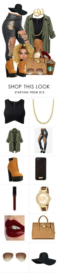 """Back and forth"" Aaliyah"" by loyalartist607 ❤ liked on Polyvore featuring Fremada, Henri Bendel, Witchery, Michael Kors, Charlotte Tilbury and Ray-Ban"