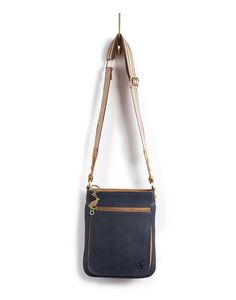 Joules null Womens Leather Crossover Bag, French Navy.                     This sturdy yet stylish bag will certainly brighten up the greyest day. In soft leather that will only get better with age and functional features that will come in handy during a dash to the shops.    #joules #christmas #wishlist